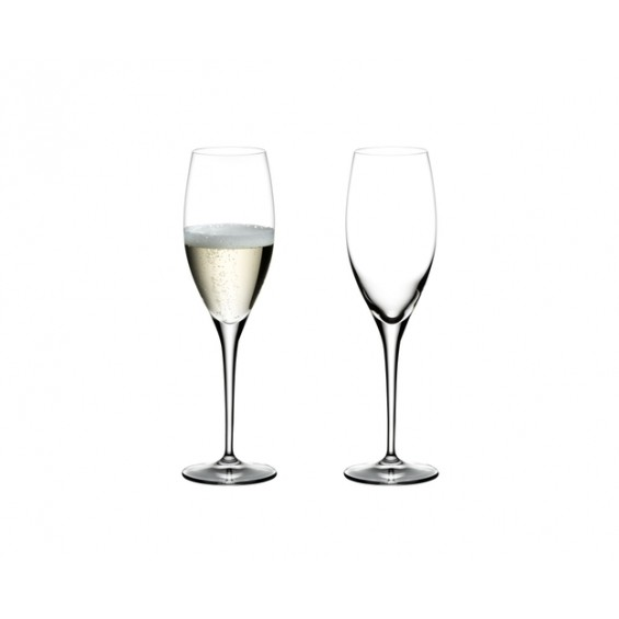 Champagne glass - set of 2 glasses, Heart to Heart