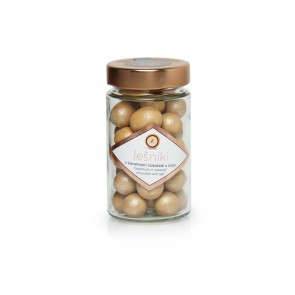 Chocolate hazelnuts with milk chocolate caramel and salt 125g, Lucifer
