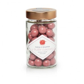 Ruby chocolate covered raspberries and cranberries 125 g , Lucifer