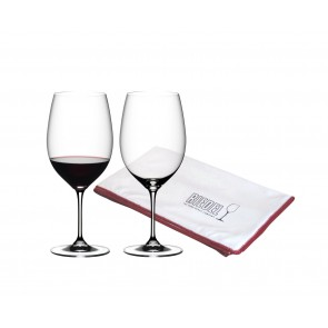 Bordeaux - set of 2 glasses +  Microfibre Polishing Cloth GRATIS, Vinum