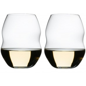 White wine ~ set of 2 glasses, Swirl